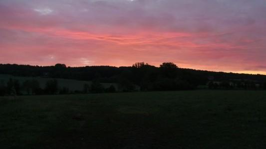 Sonnenaufgang auf dem Heimweg von der Party