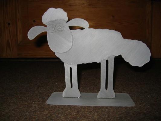 Shaun das Schaf aus Plexiglas