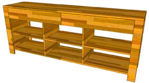 TV-Sideboard aus BSH: Fertigstellung des Korpus