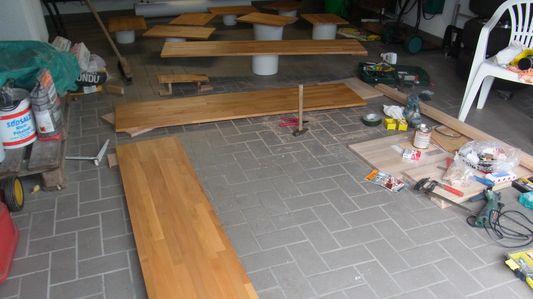 Lasierte Holzplatten