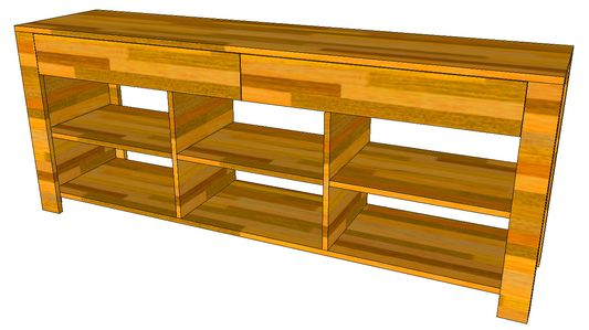 Sideboard-Skizze